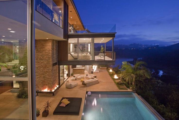 Justin Bieber Home, Beverly Hills, California - Terrace view  © MLS.com America's Real Estate Portal  Click the picture for more!