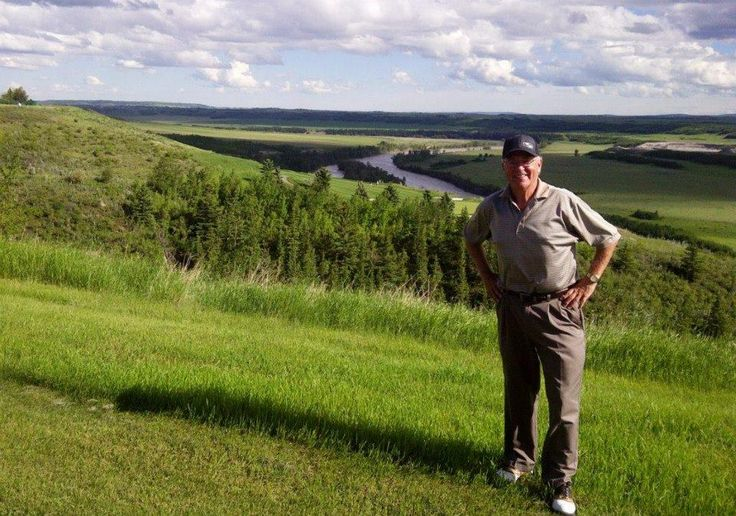 "George Doherty of George's Cream at Air Canada ""DreamsTake Flight"" Charity Golf cause at the Links Of Glen Eagle Resort in Cochrane, Alberta. #AlbertaPharmasave"