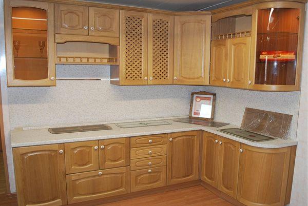 "Кухня ""Дуб шпон"" чистый лак - Фабрика кухни и шкафов-купе на заказ Аркада"