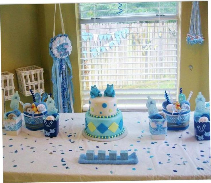 Baby boy shower ideas and decorations baby shower pinterest baby boy shower - Ideeen deco kamer baby boy ...