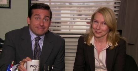 Michael Scott and Holly Flax from The Office. They are so perfect together!