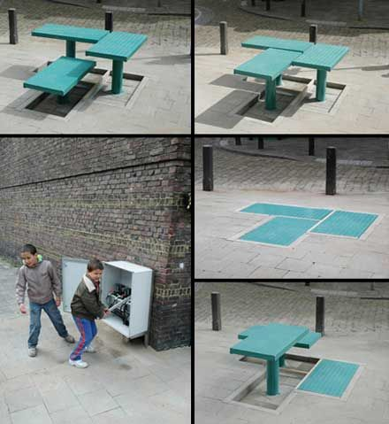 Pop Up Street Furniture