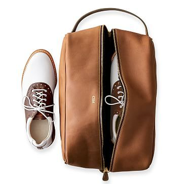 Leather Sunday Golf Shoe Bag #makeyourmark