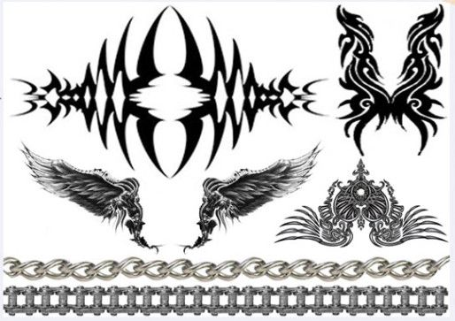 [Inkwear] Temporary Tattoo Ink Wear - Angel Wing & Chain -Temporary tattoo looks amazing on your body! Its cute and stylish at the same time! A temporary tattoo for any occasion! Look more specific->click!