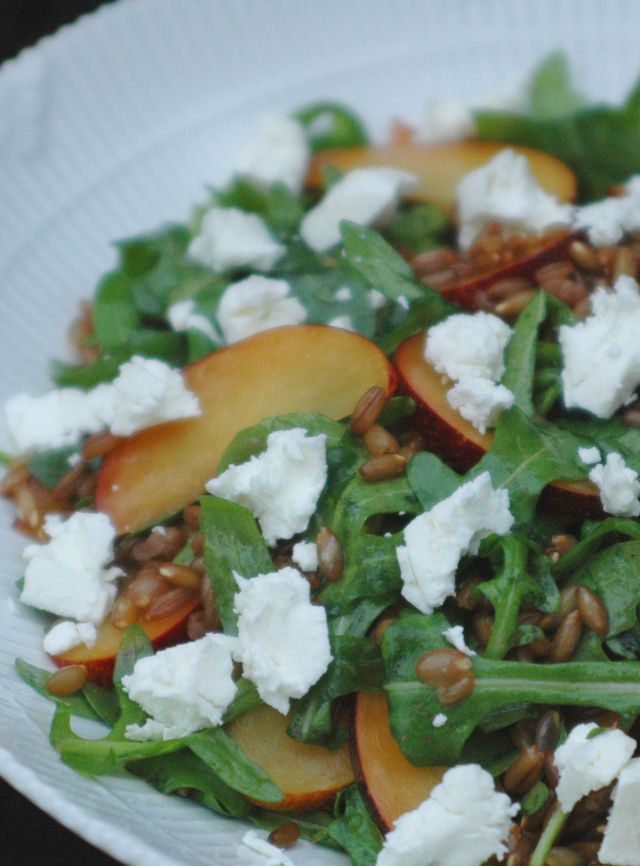 Rye Salad with Arugula and Plums