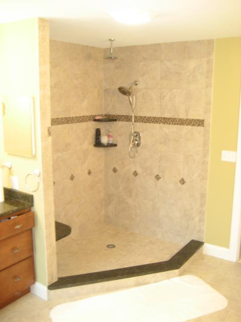 Bathroom remodel order of installation : Best images about walk in showers on