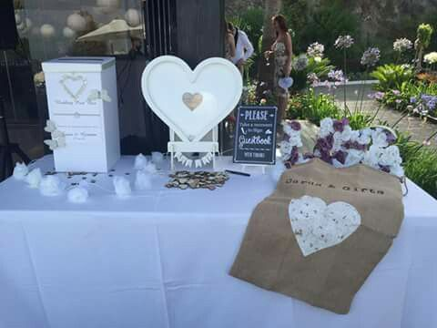 Drop heart guest book. #wedding #personaltouches