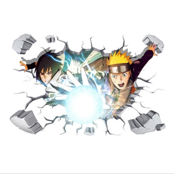 3d wall stickers naruto miyazaki anime for home decorative on wall stickers 3d id=25561