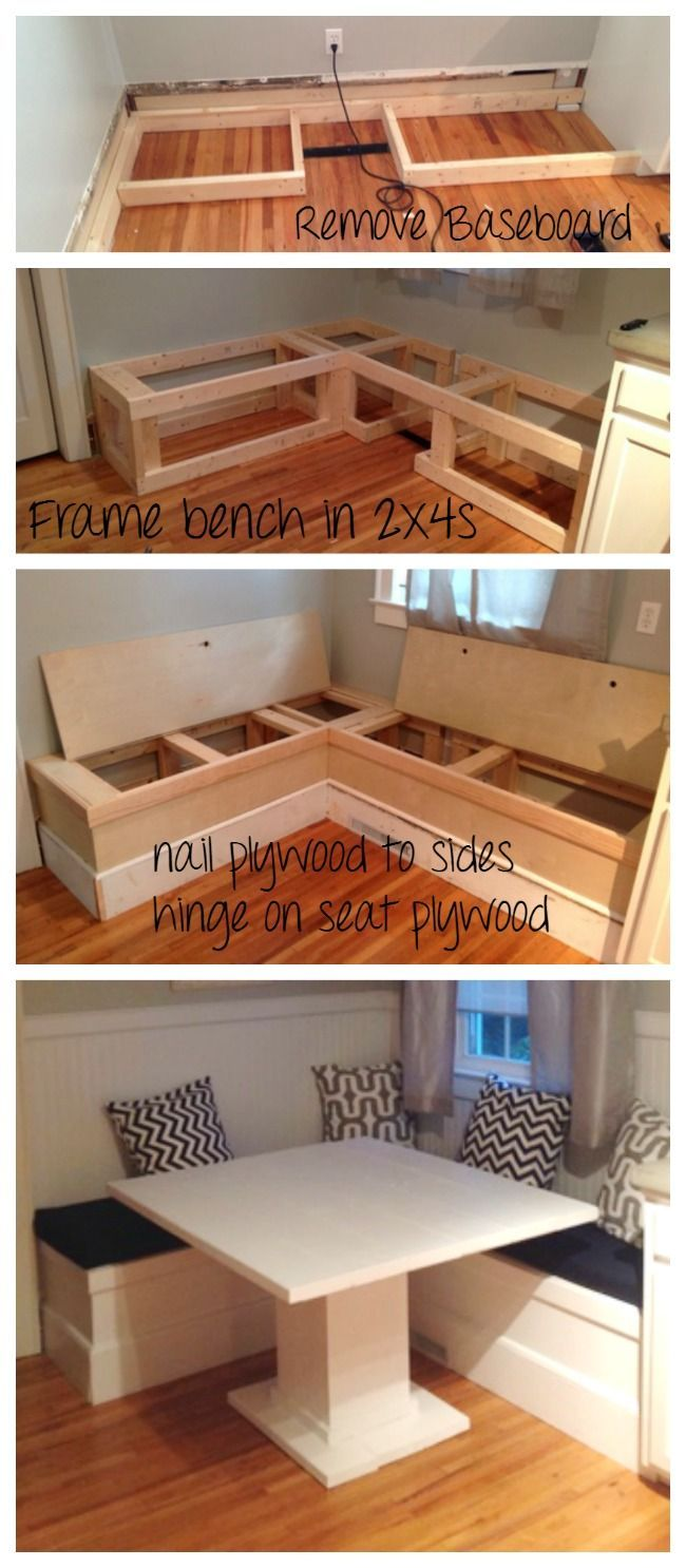 Ana White | DIY Breakfast Nook with Storage – DIY Projects