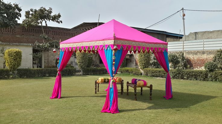 Hot Pink and Turquoise color #IndianTent by www.indiantents.com