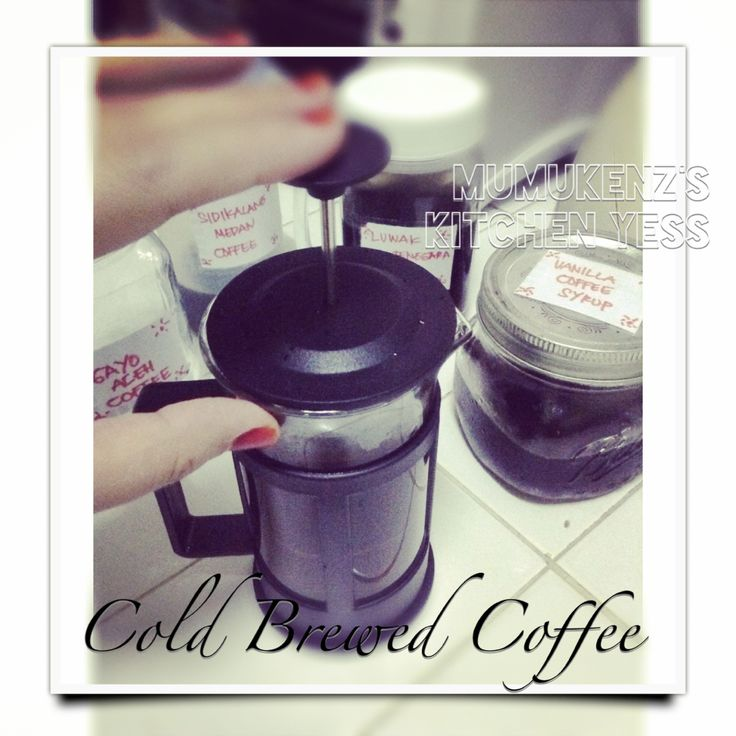 Cold Brewed Coffee yess