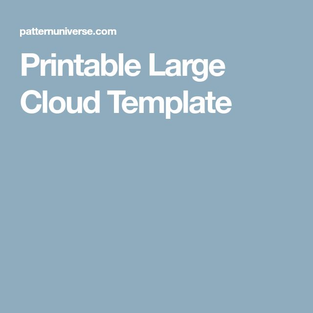 The  Best Cloud Template Ideas On   Cloud Stencil
