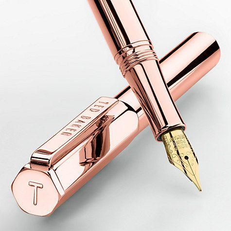 Buy Ted Baker 24k Fountain Pen, Rose Gold Online at johnlewis.com