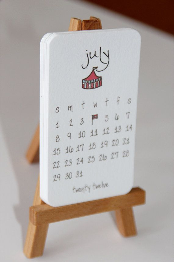 Super cute mini-calendar