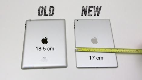 Updated: iPad 5 possibly stacked up to iPad 4, shows of its slim figure - http://mobilephoneadvise.com/updated-ipad-5-possibly-stacked-up-to-ipad-4-shows-of-its-slim-figure