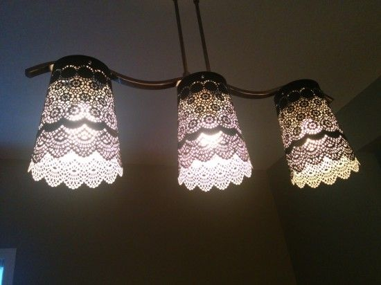 Pretty Lacey Lamp Shade | IKEA Hackers | Bloglovin'