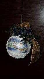 """Sfera natalizia """"Paesaggio innevato"""""""