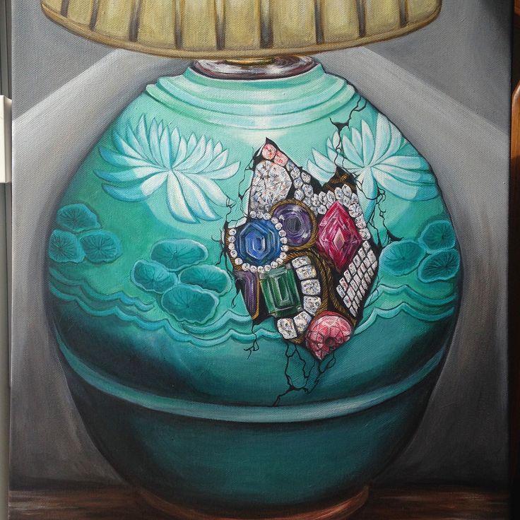 'Dim Secrets' by Chloe Nava (Acrylic on Canvas 16x20)