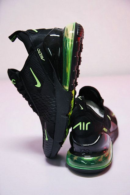 low cost 2cb8c 2ae87 Running Nike Air Max 270 Black Chrome Green Ah8050 008 Cheap Priced Shoe