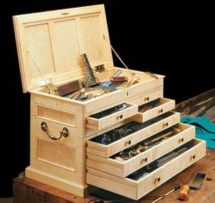 A project for every woodworker. Take great care of your tools, they are your livelihood!  Cabinet Maker's Chest | Woodsmith Plans