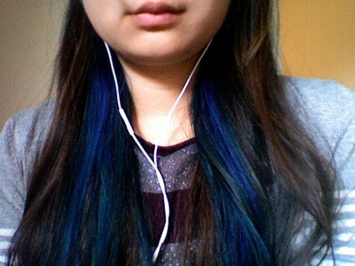 14 best blue highlights images on pinterest hairstyle plaits dark brown hair with blue underneath google search pmusecretfo Gallery