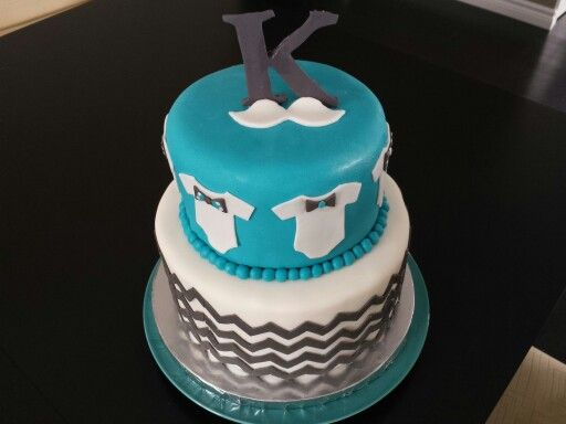 Baby shower cake with bow ties