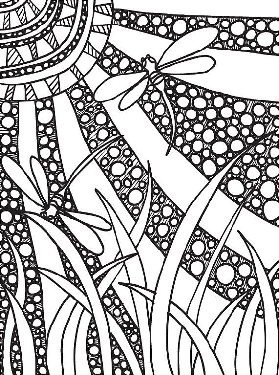 Abstract Doodles Coloring Book 6 Butterflies By AbstractDoodles