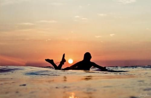 sunset surf time