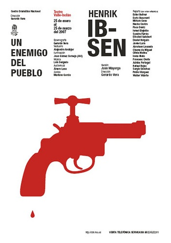 "PG203 ""Un Enemigo del Pueblo"" Henrik Ibsen, Poster by Isidro Ferrer (2007)"