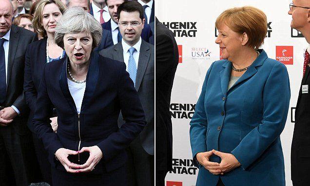 #UPDATE: May, #Merkel #Illuminati Mania... Hand Signal Spawns Theories...