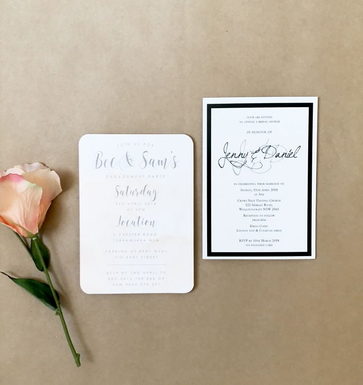 Engagement Party Invitations by Candle Bark Weddings
