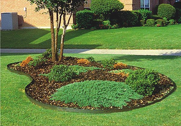 Tree Borders Landscape Borderline Steel Lawn Edging Tree