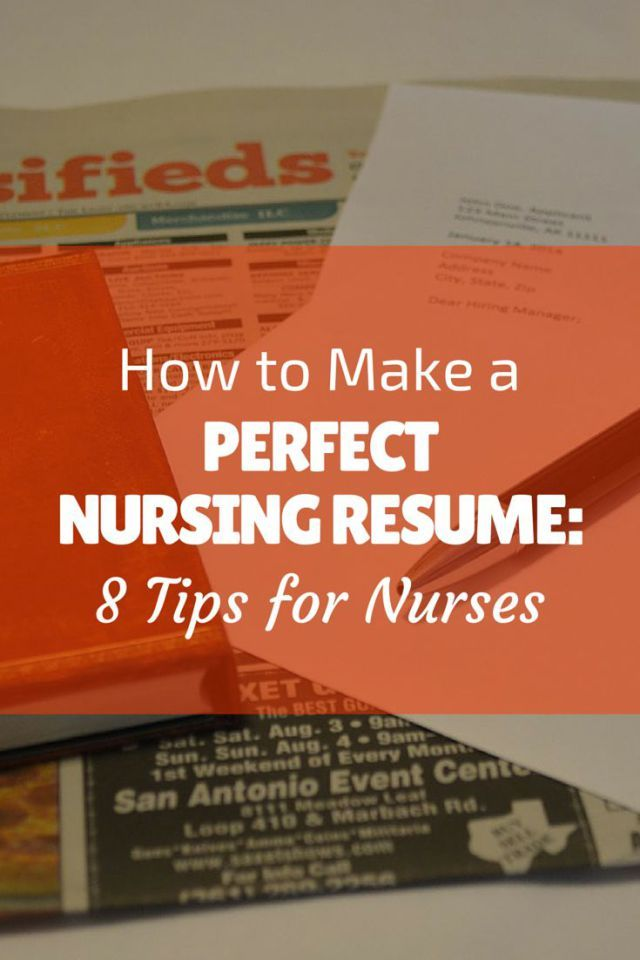 30 best resume images on Pinterest Resume tips, Resume ideas and - perfect nursing resume