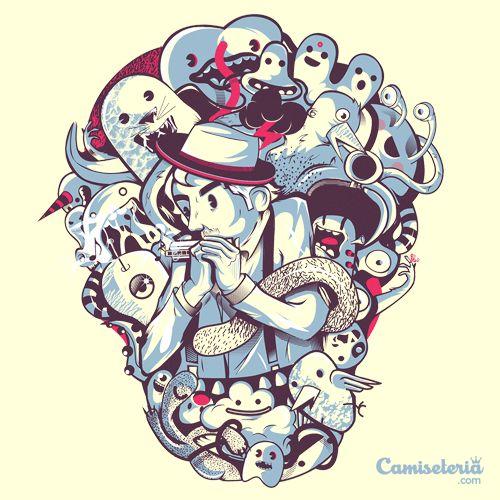 Camiseta 'Encantador de monstros' - Catalogo Camiseteria.com