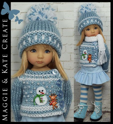 "Winter Outfit 1 for Little Darlings Dianna Effner 13"" by Maggie Kate Create 