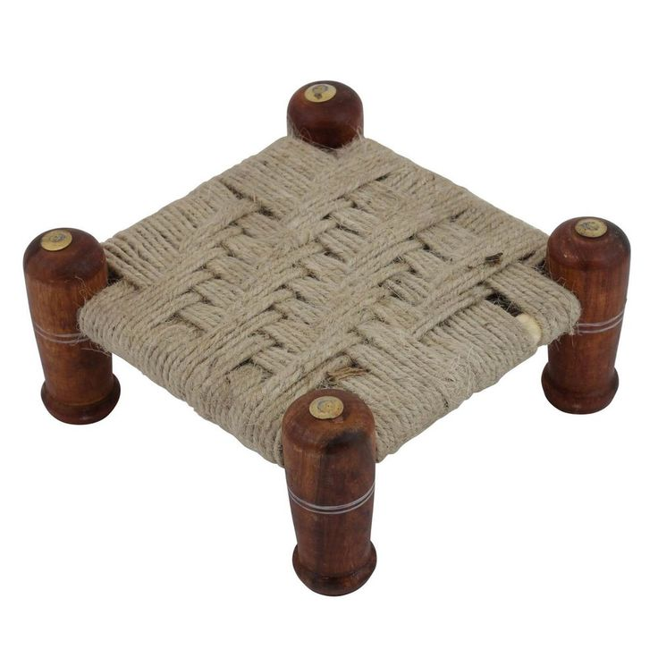 Wooden Khaat Chowki - Must in your Home   Pooja Chowki   Home Decor 3inch