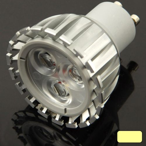 [$5.61] GU10 4W Warm White 3 LED Spotlight Bulb, AC 85V-265V