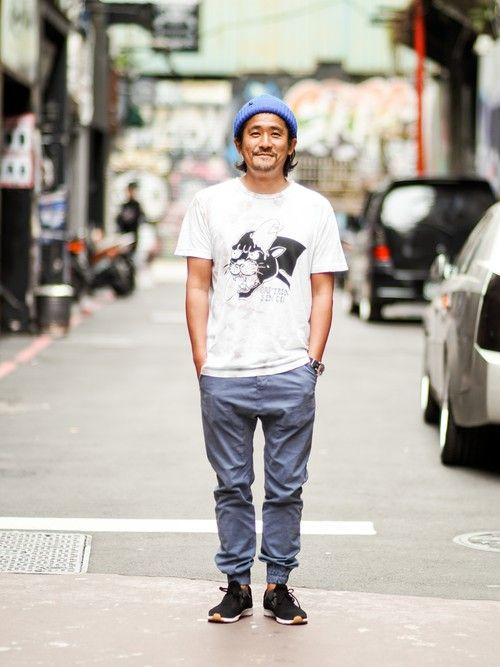 Upstairs Genuine Shop | UpstairsGenuineShopさんの休閒長褲「 Golden Denim - Marathon Pants (Hunting Blue)」を使ったコーディネート