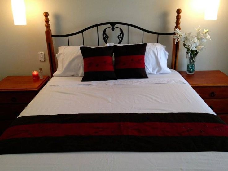 Balinese Brown Red Embroidered Bed Runner Embroidered Dragonfly Satin Cotton $29.98