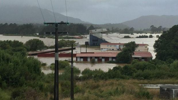 Kaiata racecourse under flood on Thursday, January 19