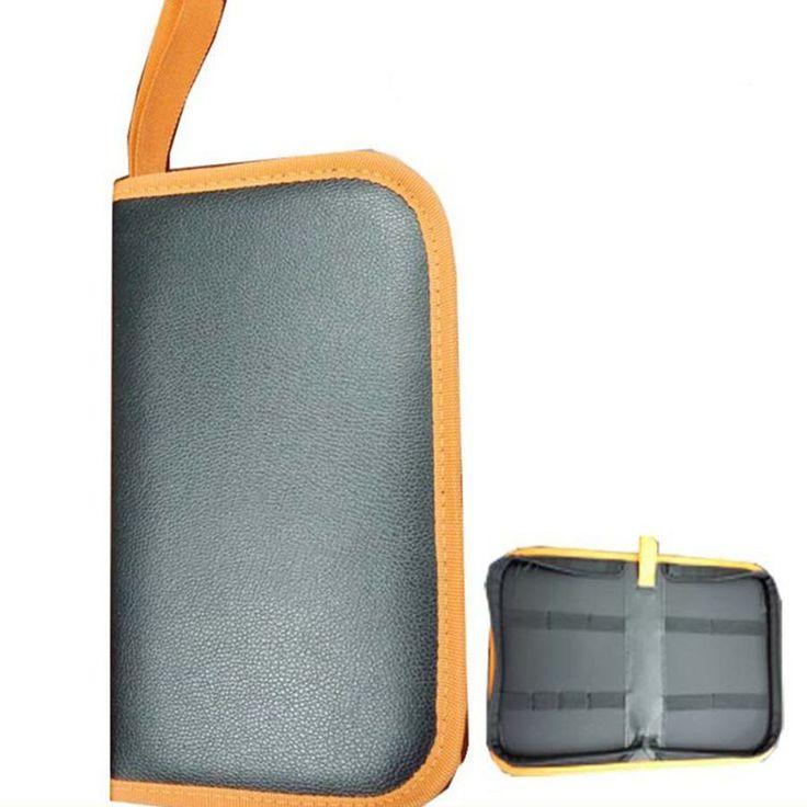 PU Leather Zipper Pro Barber Tools Bag  Multifunctional Car Power Hardware Repair Electrical Tool Kit Tool Bag