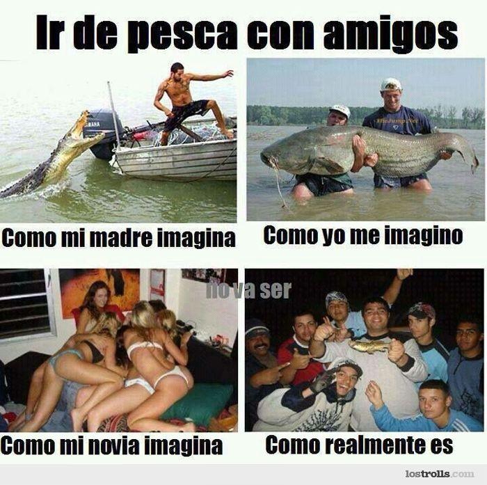 Ir de pesca con amigos: Funny Things, Mexicans Stuff, Pesca Con, With Friends, Graceful Phrases, Funny En, Funny Mood, Mexicans Problems, De Pescarealidad