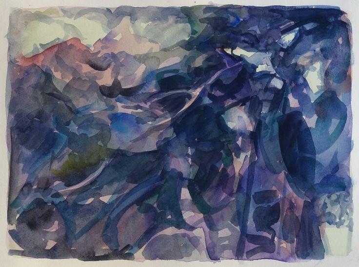 Bo Ljungcrantz, akvarell, 25x35cm