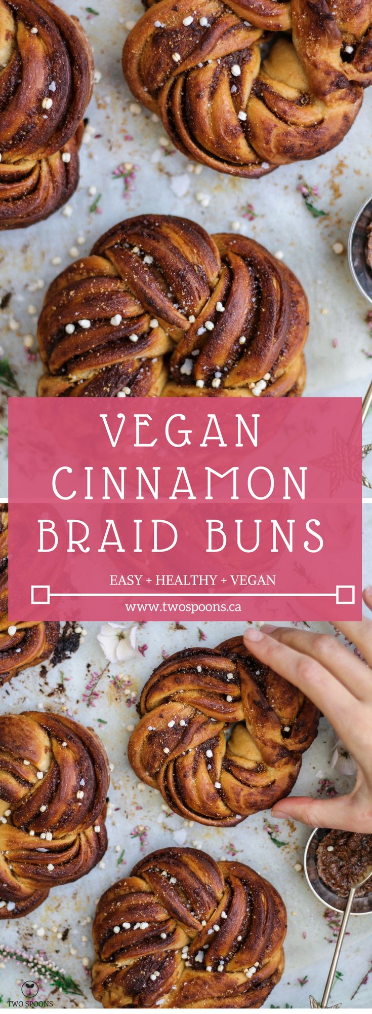 VEGAN CINNAMON BUNS | Easy, Vegan, Breakfast Recipes | TWO SPOONS