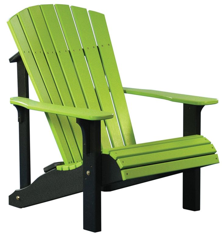 Lime Chairs | Deluxe Adirondack Chair, Polywood | Dutch Haus Custom  Furniture .
