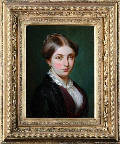 Josef Mánes - Portrait of Marie Aloisie Palacká, 1852