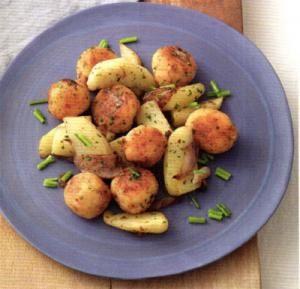 Polpettine di nasello e granchio con patate