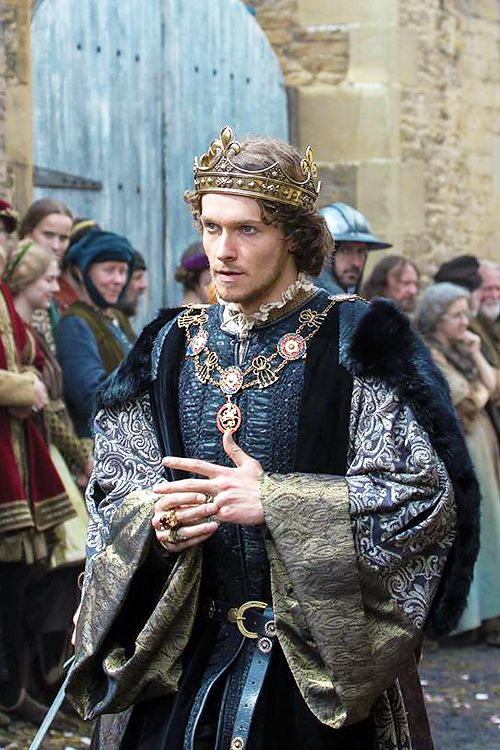 Jacob Collins-Levy on set of The White Princess at Lacock, Wiltshire.