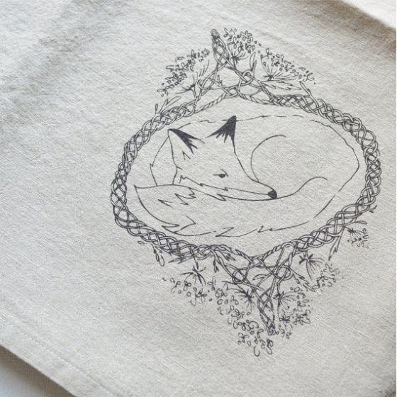 Fox silk screen printed cotton and linen blend napkins  http://www.etsy.com/listing/170692283/fox-silk-screen-printed-cotton-and-linen?ref=shop_home_active_20