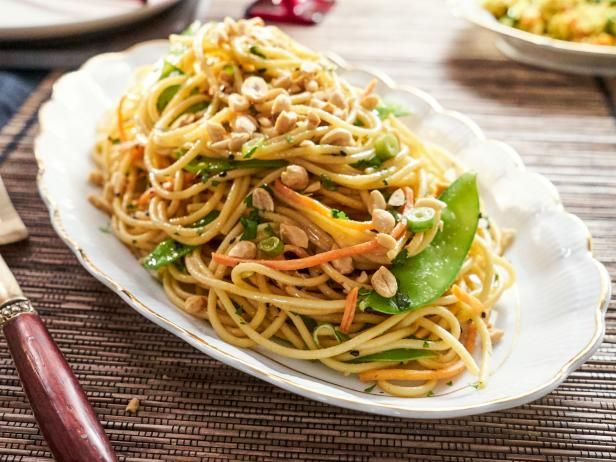 Get Tia Mowry's Sesame Noodles with Veggies Recipe from Cooking Channel